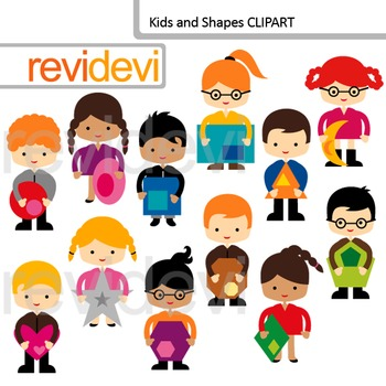 Clip art Kids and Shapes