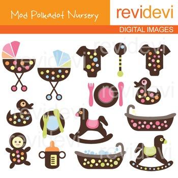 Clip art: Mod Polkadot Nursery 07170