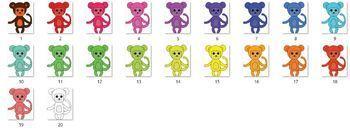 """Clip-art """"Monkeys"""" - Rainbow Monkeys - 20 images"""
