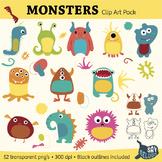 Monster Clip Art Pack – Commercial