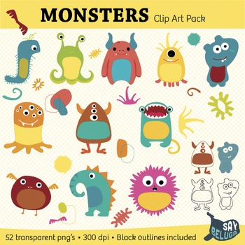 Monster Clip Art Pack – Commercial