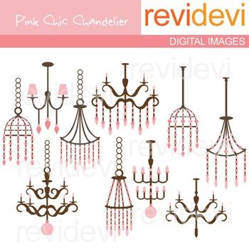 Clip art Pink Chic Chandelier 07216