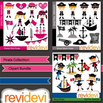 Clip art Pirate Collection Bundle (3 packs)