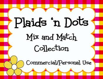 Clip art! Plaids 'n Dots Collection 1 - Papers, Frames, an