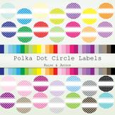 Clip art - Polka Dot Circle Labels