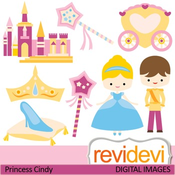 Clip art : Princess and Prince Charming