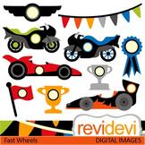 Clip art Race Cars and Motors (racing, trophy)