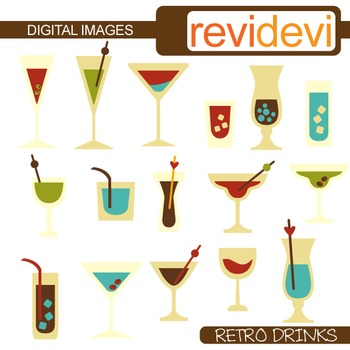 Clip art Retro Drinks