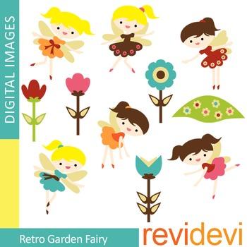 Clip art Retro Garden Fairy