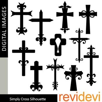Cross clip art silhouette