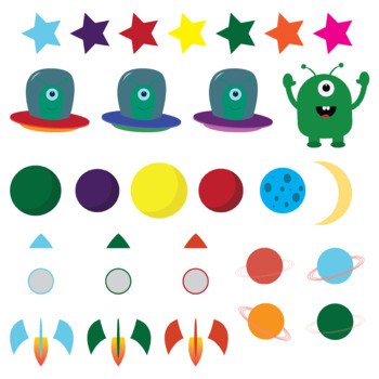 Clip art: Space, planets