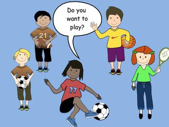 FREEBIE Clip art Sports  (soccer, football tennis, basketball) in powerpoint
