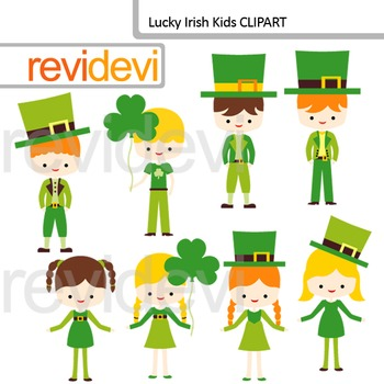 Clip art St. Patrick's Day / Lucky Irish Kids Cliparts
