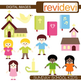 Clip art Sunday School Kids (boys, girls, church, bible) Christian clipart