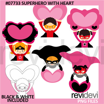 Clip art Superhero with heart