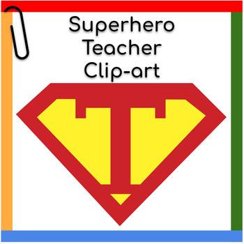 Clip art: Teacher Superhero Superman Logo Image