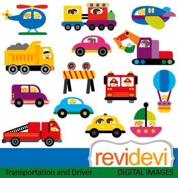 Clip art Transportation and Driver (vehicle, truck, car, t