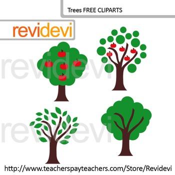 Clip Art Trees Go Green Apple Tree Earth Day Free Clipart For Teachers