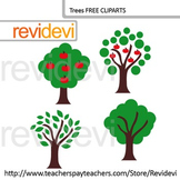 Clip art Trees (go green, apple tree, earth day) free clip