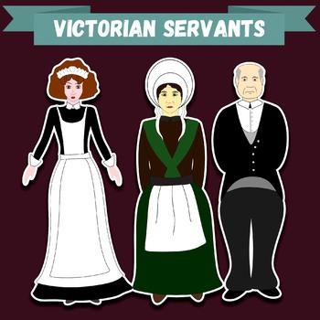 """Clip-art """"Victorian Servants"""""""