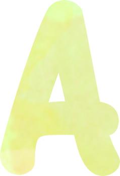 "Clip-art ""Watercolor Alphabet"""