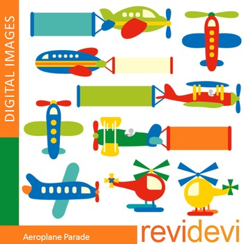 Clip art airplanes (plane, helicopter)