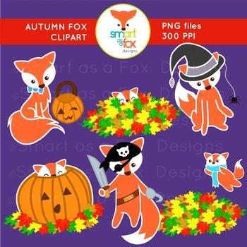 Autumn Fall Animal Fox Halloween Activities Clip Art