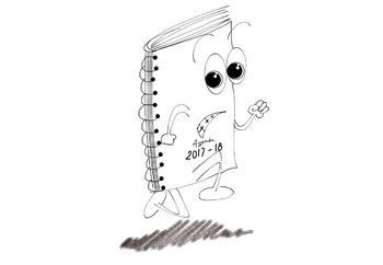 Clip art, back to school, agenda, supplies, fun