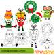 Clip art bundle / Christmas Dog Pug Monster