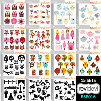 Clip art bundle special - Collection 16 by Revidevi