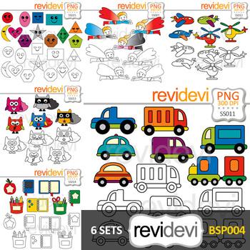 Clip art bundle special (transportation, superhero, school supplies, shapes)