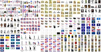 Clip art collections including 4th July Independence day