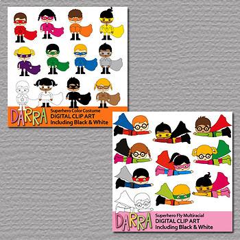 Clip art commercial use - Superhero clipart Vol. 2 - Surprise Me Growing Bundle