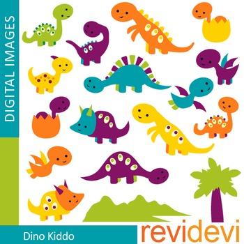 Clip art cute dinosaur (purple, orange, blue)