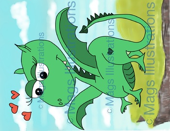 Dragon Clip art dragon, dragon girl, pink and green, illustration magic