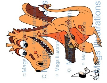 Clip art dragon, magic, tale, storytelling.