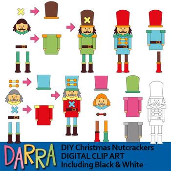 Clip art for Christmas Activities (DIY Christmas Nutcracker clipart)