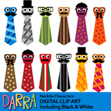 Clip art for Father's Day Activities / Necktie characters clipart