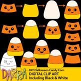 Clip art for Halloween Activities / DIY Halloween Candy Corn Clipart