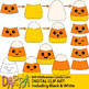 Clip art for Halloween Activities / DIY Halloween Candy Corn Clipart