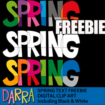 Clip art for Spring Activities - Free - clipart freebie