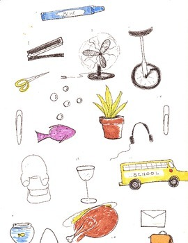Clip art for TPT, 30 items: 7 fire house, 7 instrument, 13 misc.