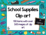 Clip art for school objects, tools, equipment, supplies, a