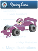 Clip art racing cars, colorful cars