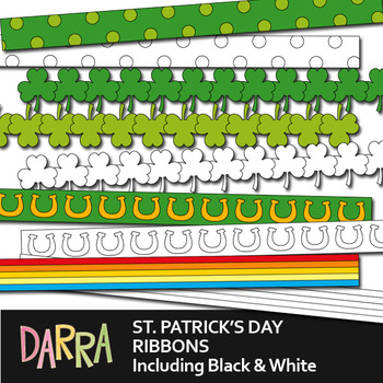Clip art ribbons St. Patrick's Day