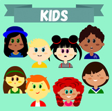 "Clip-art set ""Kids"" - (Children Heads/Faces Images)"
