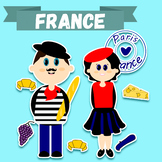 "Clip-art set ""France"" / French Lady and Gentlemen + French"