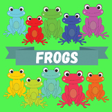 "Clip-art ""Frogs"" - Rainbow Froggies!"