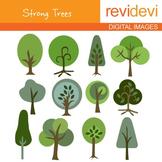 Trees clip art: go green