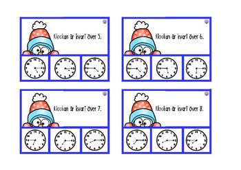 Clip cards Telling time quarter to and quarter past